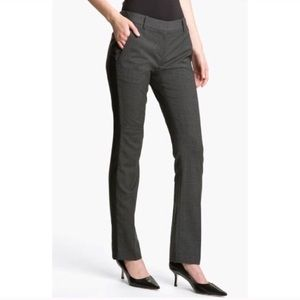 Theory Nabiki C. Magistrate Leather Trim Trousers